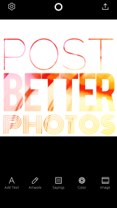 post better photos